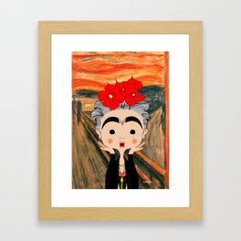 O Grito da Frida Framed Art Print