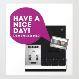 Keep Your Cassette Player Art Print