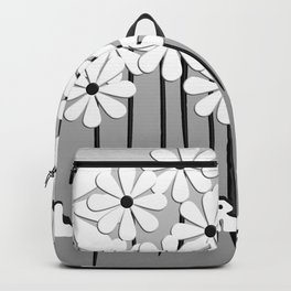 Flower Power in Black and White Backpack