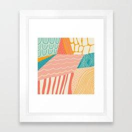 beach quilt Framed Art Print