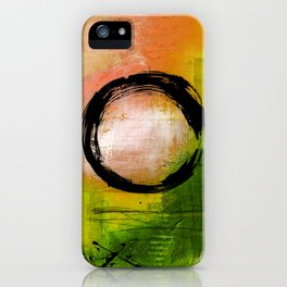 Enso No.MM13I by Kathy Morton Stanion iPhone Case