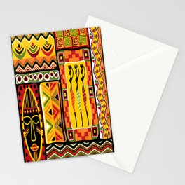 African Ornamental Pattern Stationery Cards