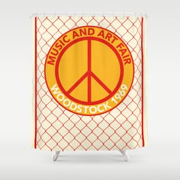 WOODSTOCK MUSIC AND ART FAIR 1969 Shower Curtain