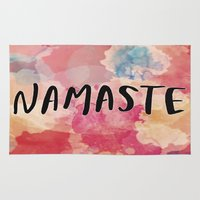 namaste Area & Throw Rugs featuring Namaste by Laura Santeler