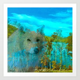 THE DAY OF THE WHITE WOLF Art Print
