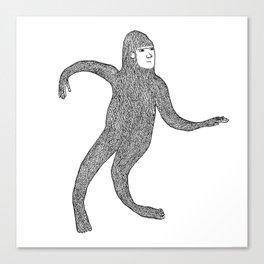 Bigfoot Doing The Wave Canvas Print