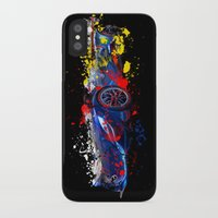 sport iPhone & iPod Cases featuring sport car by mark ashkenazi