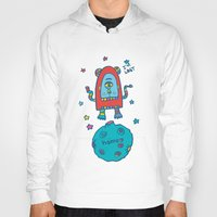 spaceman Hoodies featuring spaceman by PINT GRAPHICS