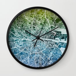 Dublin Ireland City Map Wall Clock
