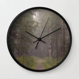Foggy path Wall Clock