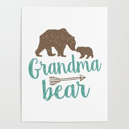 Grandma Bear Mothers Day Gift Poster