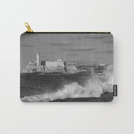Black and White Morro Castle Carry-All Pouch
