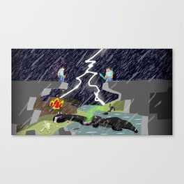 The Final Confrontation Canvas Print