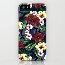 Geometric and Flowers iPhone Case