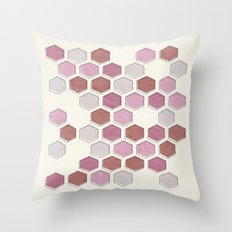 overlap mauve Throw Pillow