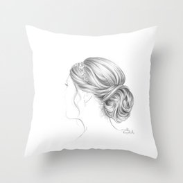 Fancy hairstyle Throw Pillow