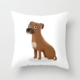 "Custom Artwork, ""Milo"" Throw Pillow"