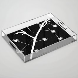 Twigs and Thorns Photogram Acrylic Tray