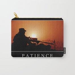 Patience: Inspirational Quote and Motivational Poster Carry-All Pouch