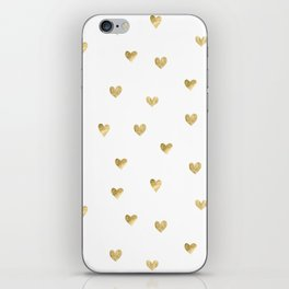 Gold Heart iPhone Skin