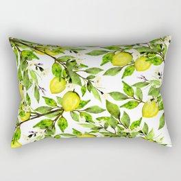 The Lemon Orchard on White Rectangular Pillow