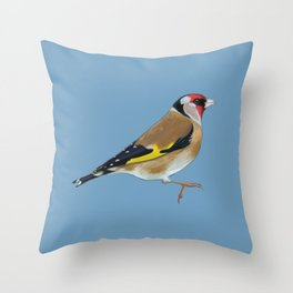 Godric the Goldfinch Throw Pillow