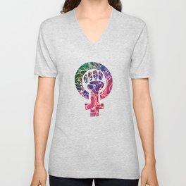 Feminist Symbol Unisex V-Neck
