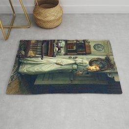 """Sir Lawrence Alma-Tadema """"The closing door"""" Rug"""