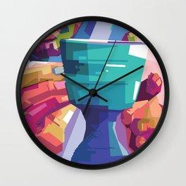 Pottery Man  Wall Clock