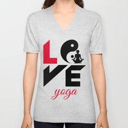 Love yoga Unisex V-Neck