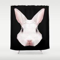 rabbit Shower Curtains featuring Rabbit by Taranta Babu