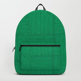 Jade Green Faux Bois Wood Pattern Backpack