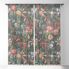 NIGHT-GARDEN-XXIV Sheer Curtain