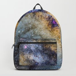 The Milky Way and constellations Scorpius, Sagittarius and the super big red star Antares. Backpack