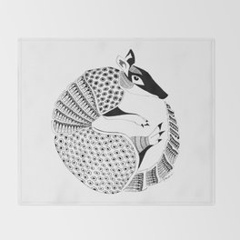 Possum on the Half Shell (Armadillo) Throw Blanket