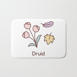Cute Dungeons and Dragons Druid class Bath Mat