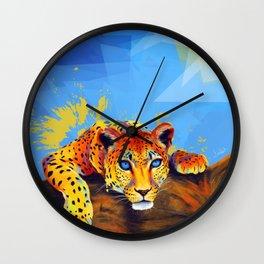 Tree Leopard Wall Clock
