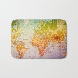 Colorful World Bath Mat