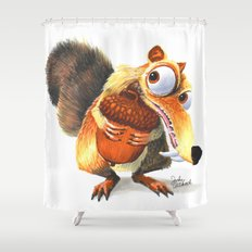 Scrat! Shower Curtain