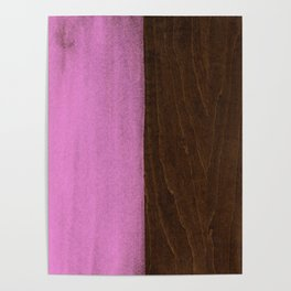Pink Paint on Wood Poster