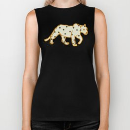 Leopard at Night Biker Tank