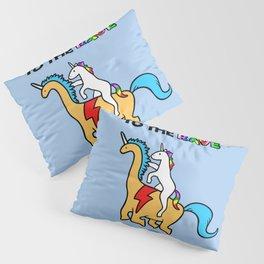 To The Rave! (Unicorn Riding Dinocorn) Pillow Sham