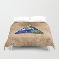 all seeing eye Duvet Covers featuring All Seeing Eye by Spooky Dooky