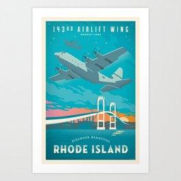 143rd Airlift C-130 Art Print
