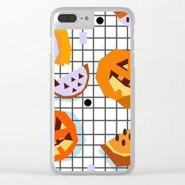 Happy Halloween Pumpkins Clear iPhone Case