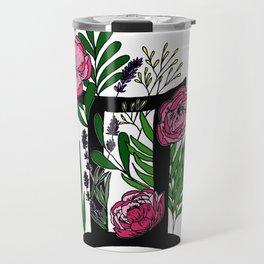 Gemini - coloured floral horoscope Travel Mug
