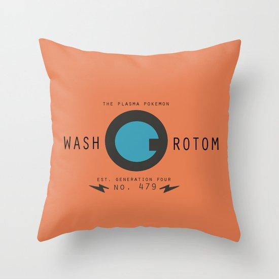 Cleaning Down Throw Pillows : Rotom (Wash) Throw Pillow by Papa-Paparazzi Society6