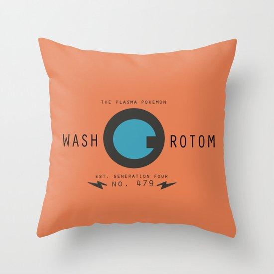 Rotom (Wash) Throw Pillow by Papa-Paparazzi Society6