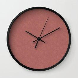Terracotta textured. Wall Clock