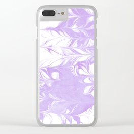 Marble pattern purple and white minimal inked minimalism marbled art Clear iPhone Case